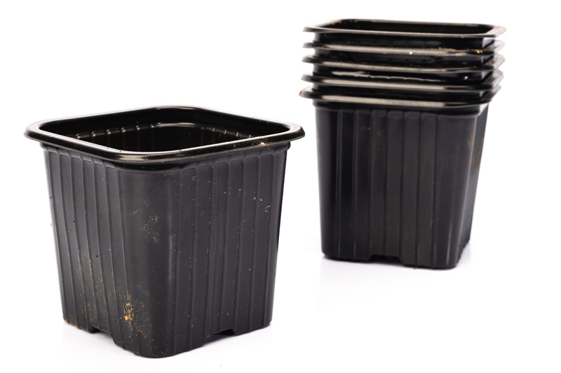 Planters produced from reprocessed scrap